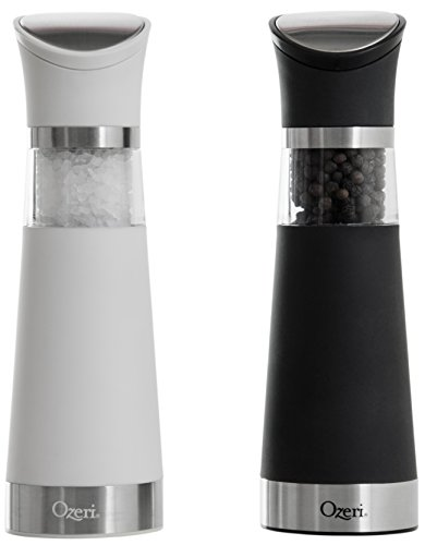 Ozeri Graviti Pro Electric Salt and Pepper Grinder Set, BPA-Free