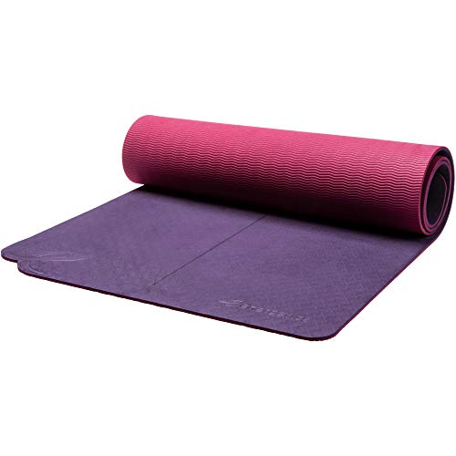 ENERGETICS Unisex– Erwachsene Yoga-Matte-253325 Yoga-Matte, Purple/Olive LI, One Size