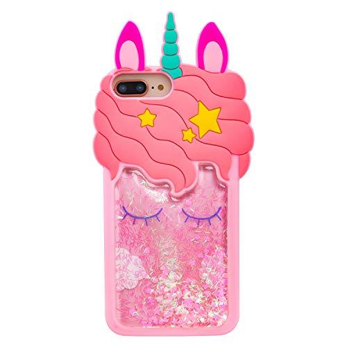 Quicksand Unicorn iPhone 6 6S Case,Awin 3D Cute Kids Girls Women Unicorn Dynamic Liquid Bling Glitter Soft Silicone Rubber Case for iPhone SE 2020/iPhone 6 6s 7 8 4.7inch (Quicksand Unicorn)