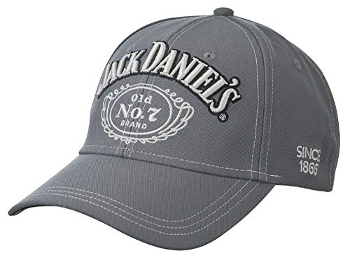 Jack Daniels Contrast Stitching Hat Grey