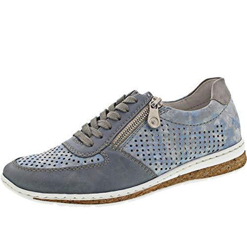 Rieker Damen N5122-12 Sneaker, Blau (Adria/Heaven/Grey 12), 39 EU