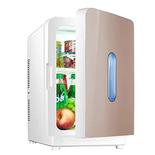 Bebidas Refrigeradores 20L Refrigerado Pequeño refrigerador Compacto, Portátil Mini Pequeño Dormitorio Dormitorio Dormitorio Coche Home Dual Uso Estudiante Individual Puerta (Color: Plata) jianyou