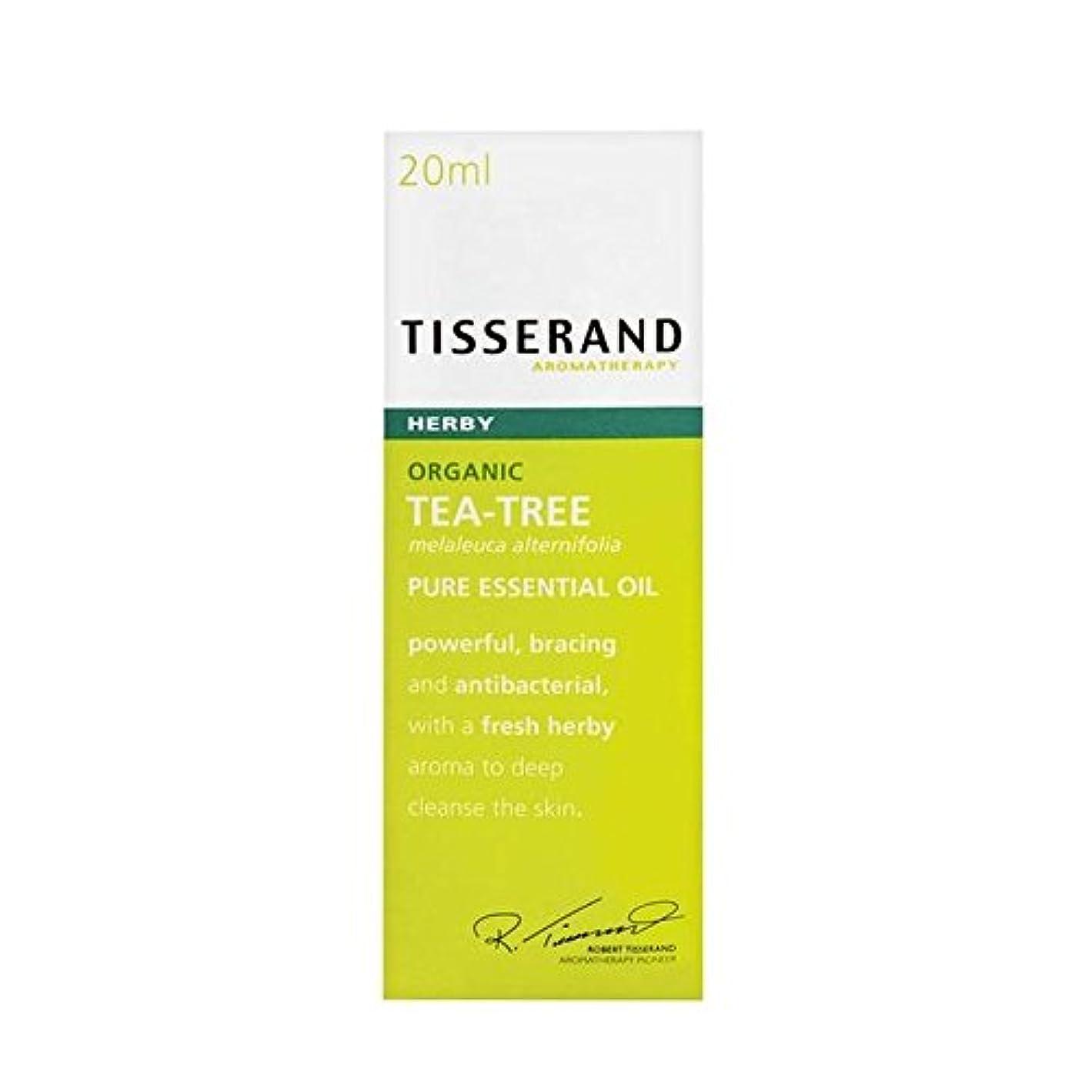 散歩に行く消費する帝国Tisserand Tea Tree Organic Pure Essential Oil 20ml - ティスランドティーツリーオーガニックピュアエッセンシャルオイル20ミリリットル [並行輸入品]