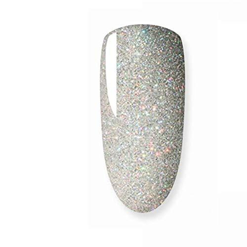 QQINGHAN 8ml Gel de Esmalte de uñas Brillo para manicura Conjunto de Clavos de uñas Semi platium led lámpara de uñas Barnices de uñas Abrigo Superior de la Base de la Laca del Gel (Color : 005)