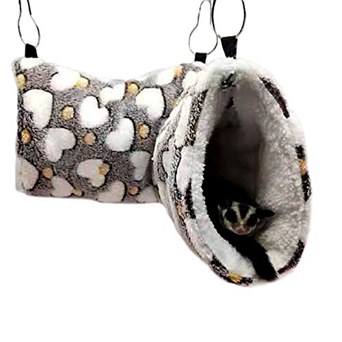 Oncpcare Hanging Tunnel for Small Animals, Hanging Hamster Toys, Sugar Glider Hammock Cage Accessories Bedding for Chinchilla Ferret Squirrel Guinea Pig Rat Playing Sleeping
