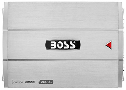 BOSS AUDIO CH4300 CHAOS 1200-Watt Full Range, Class A/B 2 to 8 Ohm Stable 4 Channel Amplifier with Remote Subwoofer Level Control