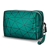Small Makeup Bag for Purse Waterproof Cosmetic Bag Large Capacity Travel Zipper Pouch Bag with Detachable Strap Cosmetic Organizer for Women Girls (Green)