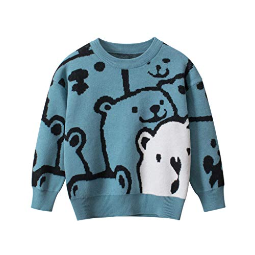MRULIC Kinder Strickpullover Baby Winter Sweatshirt Gestricktes Langarm Pullover 0-4...