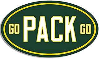 MAGNET 3x5 inch OVAL Go PACK Go Sticker -decal green bay packers football pac cheese gb Magnetic vinyl bumper sticker sticks to any metal fridge, car, signs