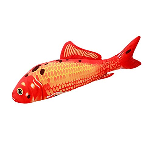 Toyvian 1pc 30cm Fish Toy Durable Creative Fish Shaped Soft Plush Nontoxic Cat Stuffed Toy 3D Fish Pillow for Pets Cat Playing