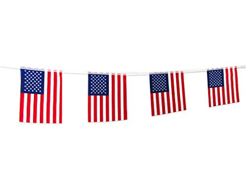 TSMD 100Feet American Flag Banner String,76pcs USA Pennant Flags Banners for Grand...