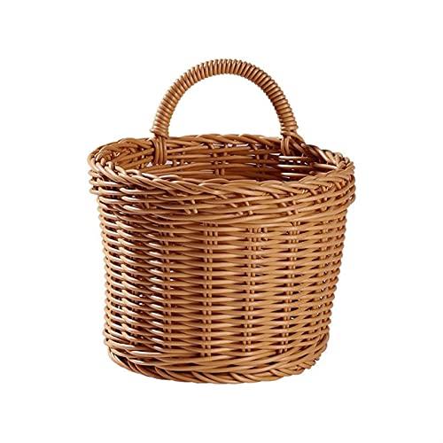 GZSC Cestello cestello Cestino con Manico Cucina Soggiorno Appendere cestini Frutta Sundries Organizer Home Decor canestro Fiore (Color : Storage Basket S1, Size : 1Pc)