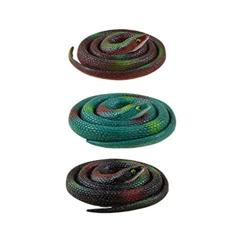 NUOBESTY 3 stücke Kunststoff schlangen realistische Gummi Schlange gefälschte Schlange Spielzeug für gastgeschenke Dekoration Gag Spielzeug streich und Prop