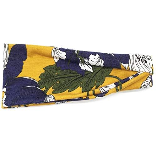 ZWH Los nuevos Europeos y Americanos de Deportes de la Venda de la impresión Sudor Banda de Banda for la Cabeza de Yoga andanada Sra Bufanda antitranspirante al por Mayor Punto (Color : Natural)