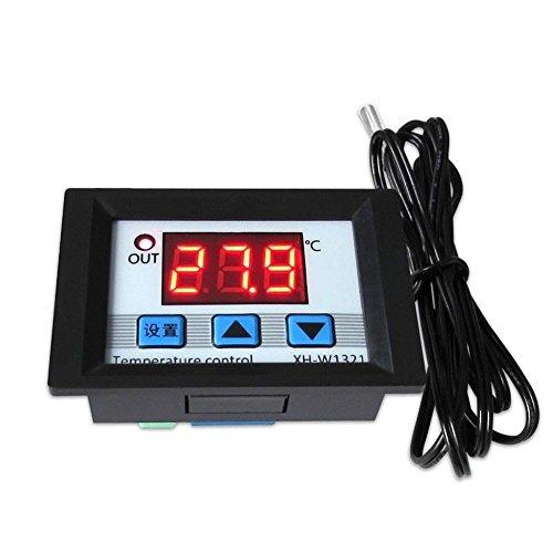 DollaTek DC12V Relé Termóstato Digital con Control de Temperatura Sensor -50-110 ° C - Negro