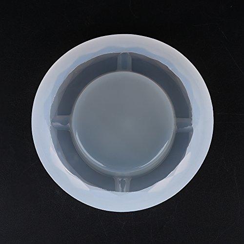 Fydun, stampo in silicone per posacenere fai da te in resina epossidica per posacenere fai da te (n. 2)