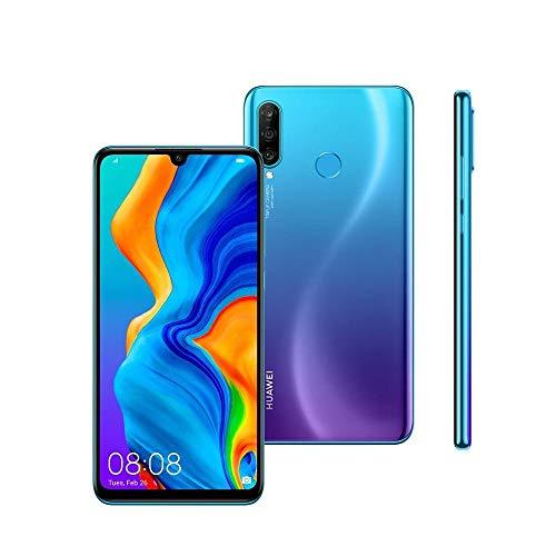 "Smartphone Huawei P30 Lite 128GB 6,15"" 4G Câmera Tripla 24MP+8MP+2MP 4GB Dual Chip Peacock Blue"
