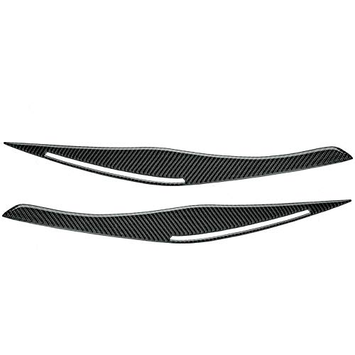 YANGAILIAN Pegatinas de la Cubierta de la ceja del párpado de la luz de la Fibra de Carbono Pegatinas de Ajuste para BMW E90 / E91 328i 335i 2006-2011 Tiras Decorativas (Color : Black)