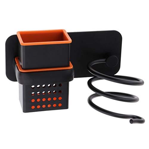 Fityle Soportes para Secadores de Pelo de Aluminio para Colocación de Secadores de Pelo - caja hueca negro, Individuales