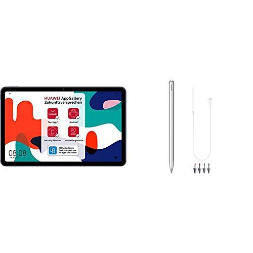 HUAWEI MatePad 10,4 Zoll, 2K FullView Display, WiFi Tablet-PC, Huawei Share, eBook Modus + M-Pencil Package mit Ladeadapter und 4 Stiftspitzen, aktiver Eingabestift, 4096 Stufen Drucksensitivität