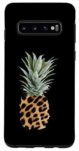 Galaxy S10 Pineapple Leopard Print T-Shirt Hawaii Cheetah Case