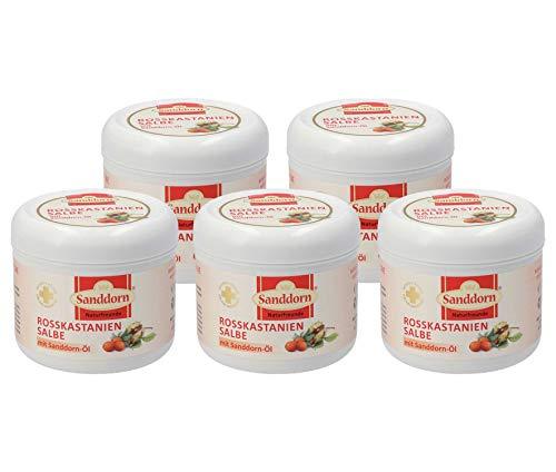 Naturfreunde Rosskastanien Salbe   je 250 ml Inhalt   mit Sanddorn-Öl   5er