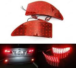 LEDIN for 06-13 Lexus IS250 IS350 2x Red Lens Rear Bumper Reflector LED Signal Brake Light