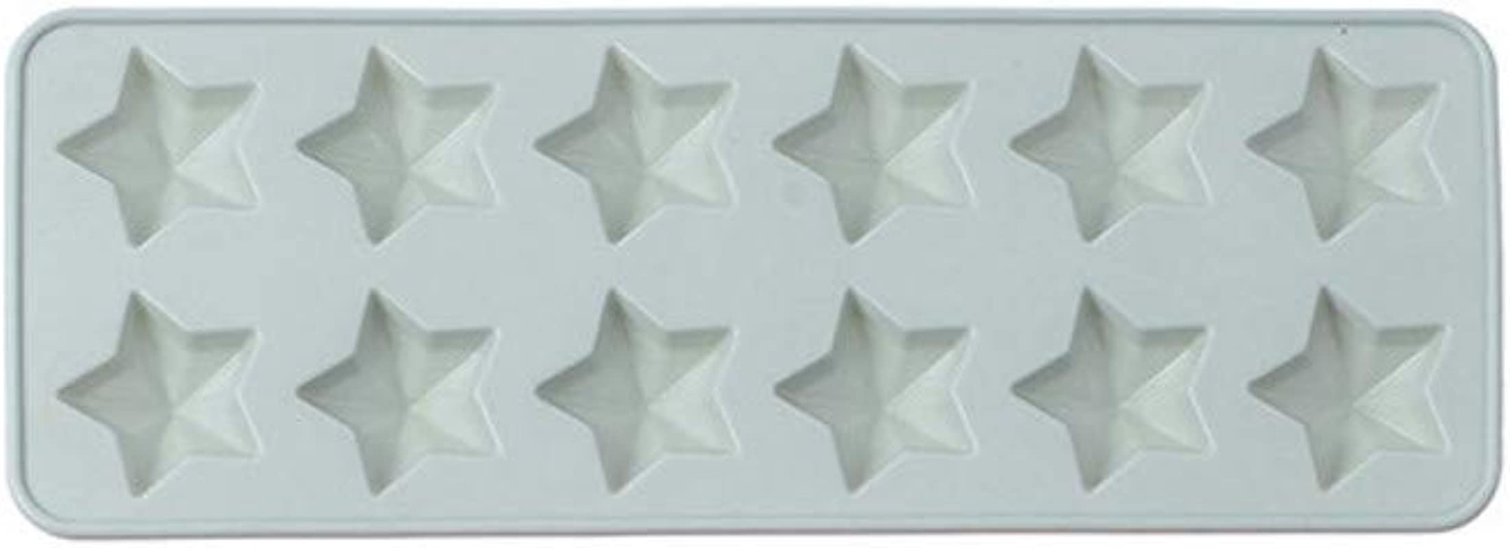 Graysky Silicone Cake 12 Cavity Pentagram Molds Cake Non Stick Baking Tray Ice Cub Pans Cookie Chocolate Cupcake Mould