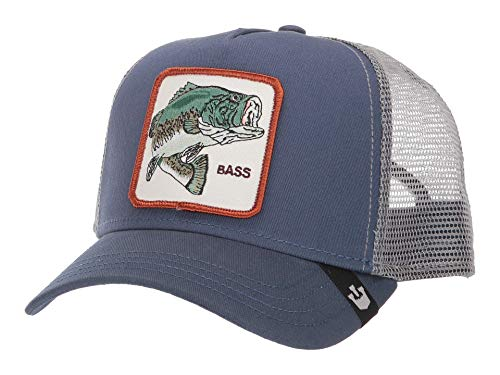 Goorin Brothers Animal Farm Snap Back Trucker Hat Blue Big Bass One Size