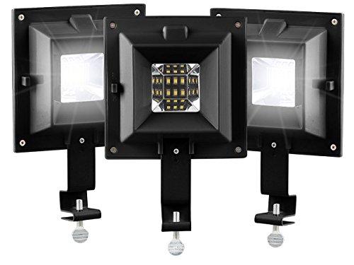 3 lampes solaires clôture et gouttière à 6 LED SMD [Lunartec]