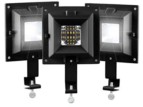 Lunartec LED Aussenlampen: 3er-Set Solar-LED-Dachrinnenleuchten, 6 SMD-LEDs, 20 lm, IP44, schwarz (Solarlampe Dachrinne)