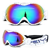 Leoie Skiing Goggles Double-Layer Anti-Fog Adult Glasses...
