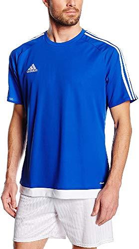 adidas Estro 15 JSY - Camiseta para hombre, color azul marino/blanco, talla S