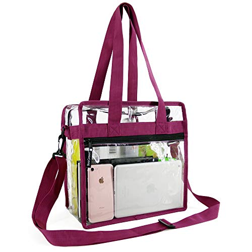 Find Bargain Clear-Purse-Stadium-Approved-Crossbody-For-Women-12 x 12 x 6, NCAA NFL& PGA Security Ap...