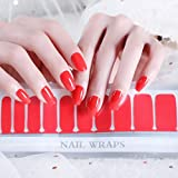 Color Lab 2019 Spring 22PCS ADHESION Nail Art Transfer Decals Sticker Orange and Pink Series DIY Nail Polish Strips,Nail Wraps, 100% Real Nail polish applique for Manicure, Wedding, Party,A501 Awaken