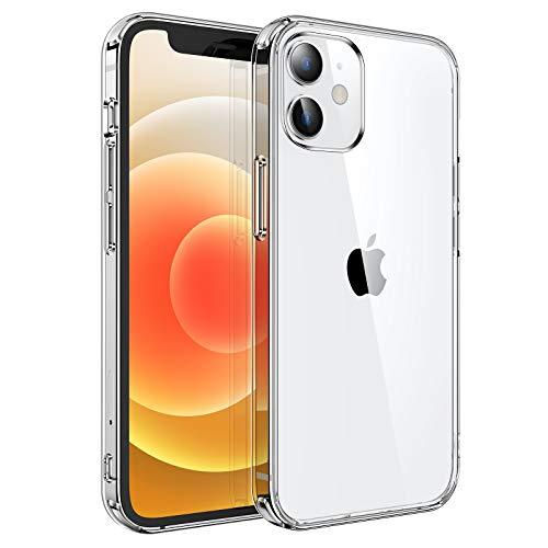 UNBREAKcable Hybrid Hülle Kompatibel mit iPhone 12 Mini - Transparent [Anti-Gelb & Kratzfest] Handyhülle iPhone 12 Mini, Hartplastik Rückseite & Weich Silikon Bumper Schutzhülle