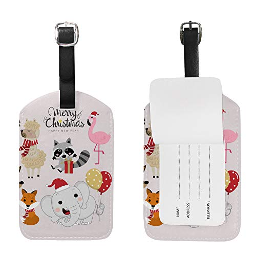 Luggage Tags Cute Fun Luggage Tags Kids Leather Initial Tag Suitcase 1 Piece