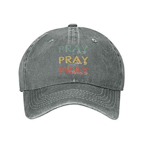 Pray On It, Pray Over It, Pray Through It 04 Baseball Caps Vintage Washed Denim Dad Hat Adjustable Trucker Hat