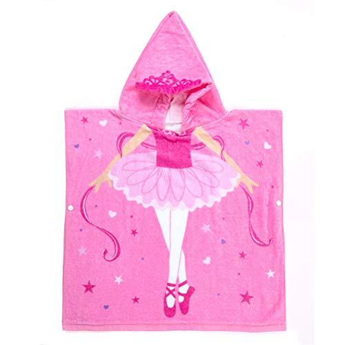 Kinder-Badeponcho, Badeponcho Kinder Kinderhandtuch mit Kapuze - Handtuch Poncho mit Tiermotiv, Kapuzenhandtuch für Jungen und Mädchen