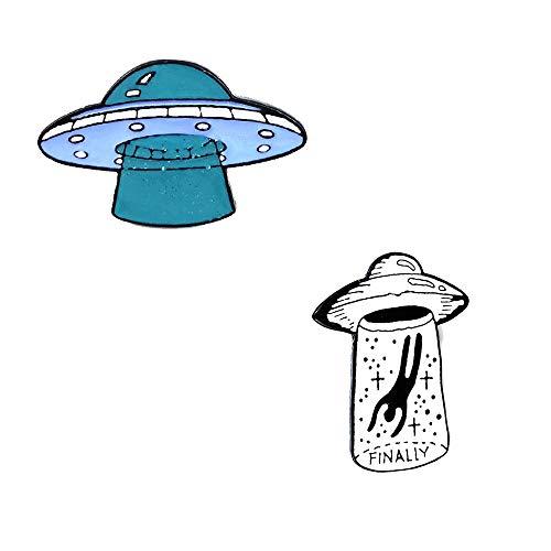 Set De Pin Esmaltado (2 Unidades) Alien