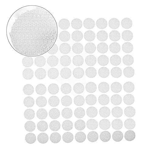 mopalwin Klebe Punkte, Klettpunkte 900 Stück Klettband Self Adhesive Klebend Klettverschluss Rund 450 Paar,10 mm,für Papier, Kunststoff, Glas, Leder, Metall, Kleidungsstücke (Weiß)