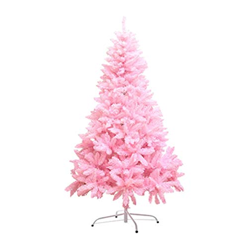 SURPRIZON 4/5/6/7 Ft Artificial Pink Christmas Tree Xmas Pine Tree with Solid Metal Legs Perfect for Indoor and Outdoor Holiday Home Decoration (7Ft)