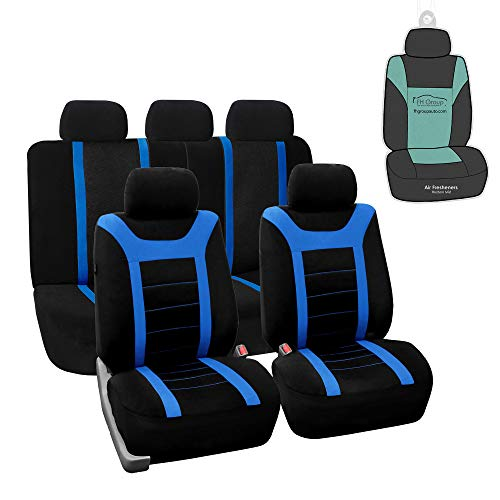FH Group FB070115 Sports Seat Covers (Blue) Full Set with Gift - Universal for Cars Trucks and SUVs
