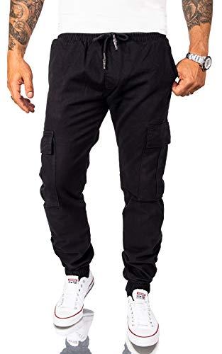 Rock Creek Herren Cargohose Chino Hose Cargo Hosen Pant Freizeithose Cargohosen Jogging Hosen Jeans Outdoorhose Wanderhose Schwarz RC-2082 W29 L30