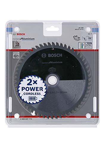 Bosch Professional Lama per sega circolare Standard for Aluminium (alluminio, 190 x 30 x 2 mm, 56 denti, accessorio per sega circolare a batteria)
