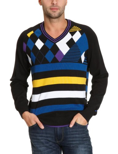PUMA Golf Herren Pullover Argyle V-Neck, black, XXL, 558050 02