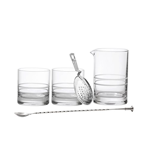 Crafthouse by Fortessa Professional Barware/Bar Tools by Charles Joly, Bar Tool Gift Set; Bar Knife, Bar Board, Peeler and Channel Knife