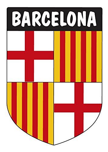 Aufkleber Wappen Barcelona