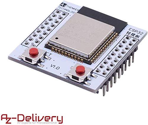 AZDelivery ESP32 Wlan WiFi Modul mit gratis Adapterplatte für Arduino, Raspberry Pi und Mikrocontroller mit gratis eBook!