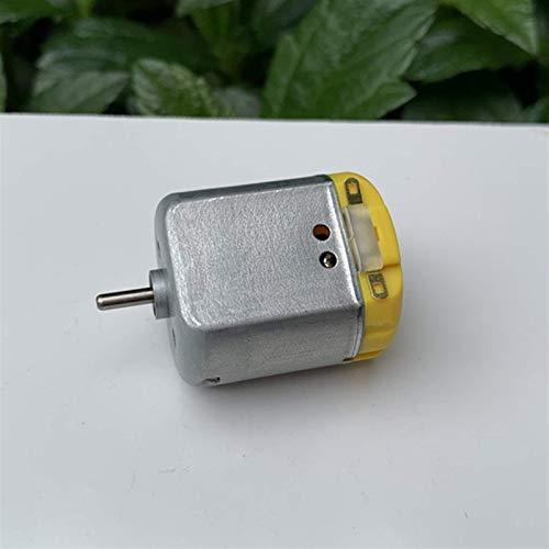 RUXMY Controlador de Motor Motor de CC Motor de Cepillo de Metal Precioso, para Bricolaje Pequeño Ventilador USB Coche RC Modelo de Barco de Juguete eléctrico, CC 3V-6V Micro Mini 260 Motor, Fácil